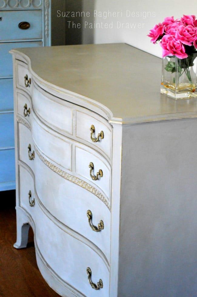 Vintage Bow Front Dresser in Annie Sloan Chalk Paint