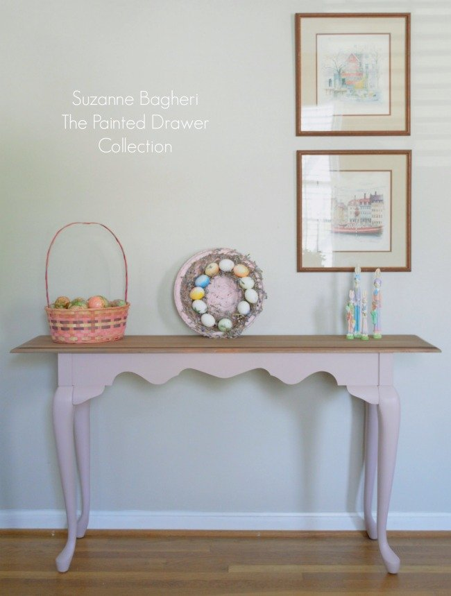 Console Table in Pink