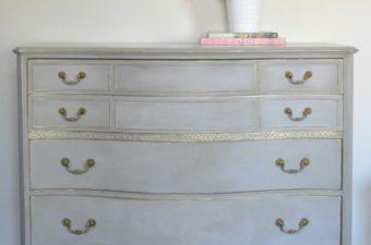 Vintage Bow Front Dresser