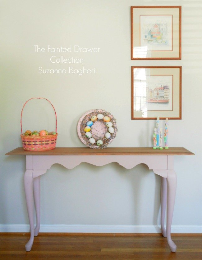 Console Table in Behr Vintage Tea Rose