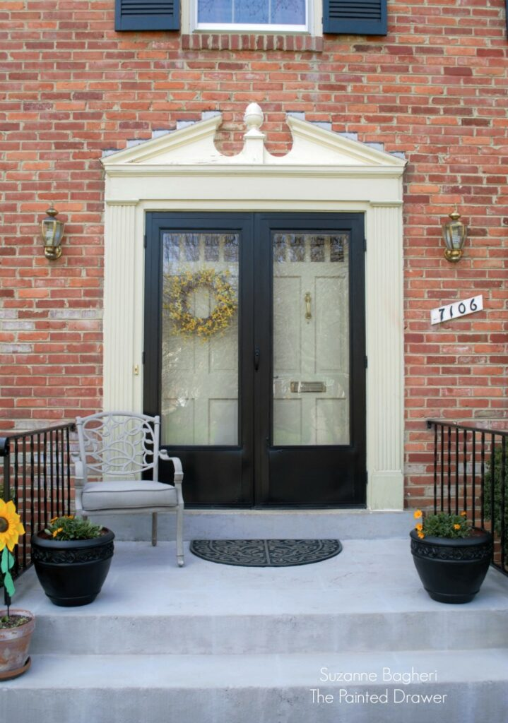 Faux Stone Front Steps
