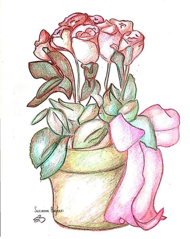 Flowers Pencil Sketch