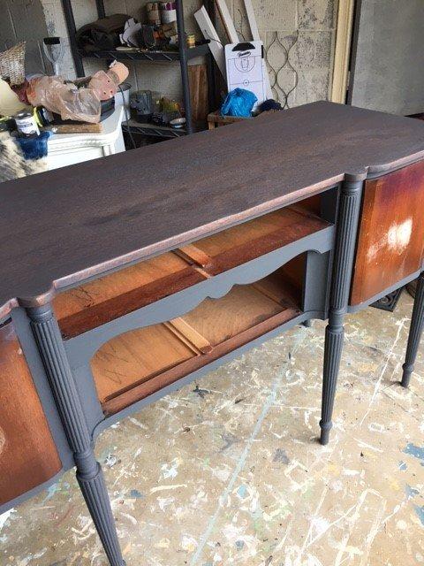 vintage sideboard in the works