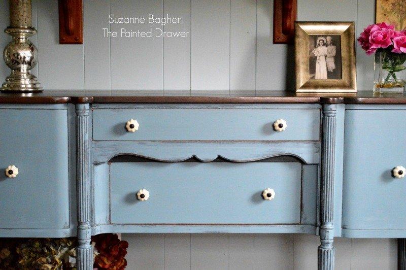 Vintage Sideboard in General Finishes Stillwater Blue