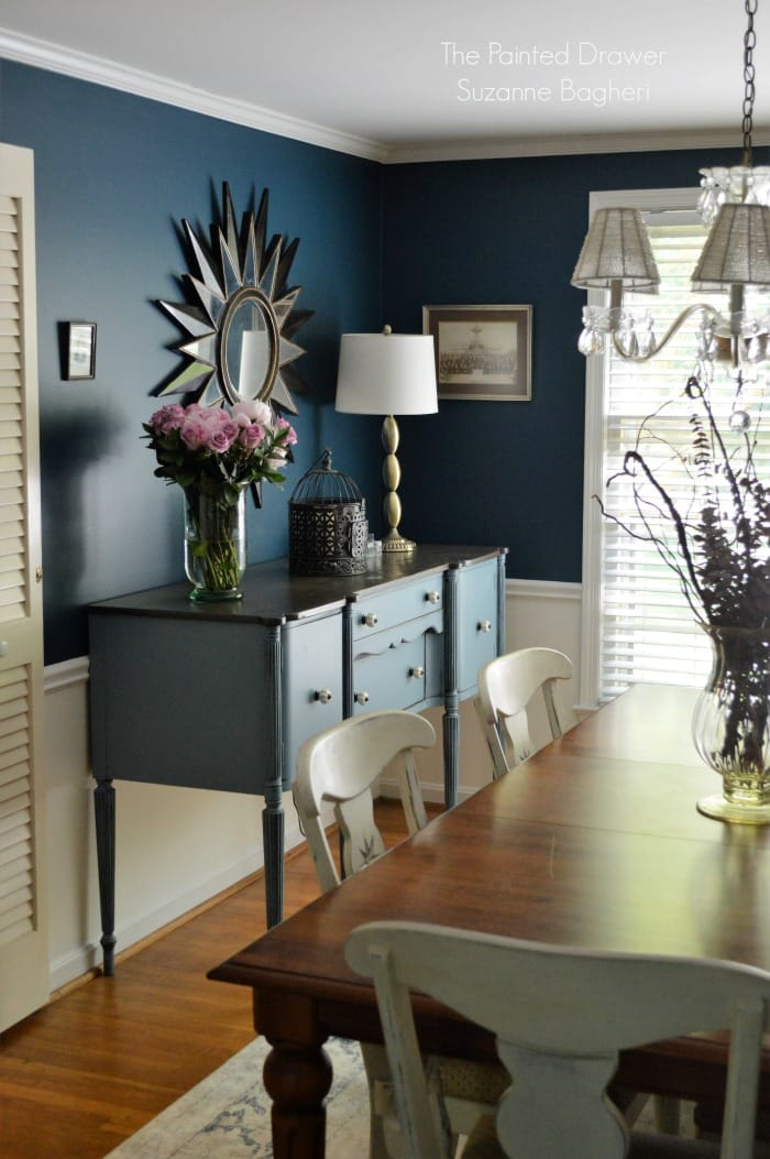 blue dining room. Stillwater Blue Sideboard in Rainstorm Dining Room  a