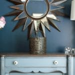 Stillwater Blue Sideboard in Rainstorm Dining Room
