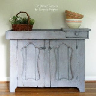 Dry Sink in DecoArt Vintage Effect Wash