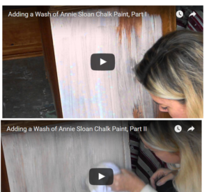 How to Add a Wash of Annie Sloan Chalk Paint