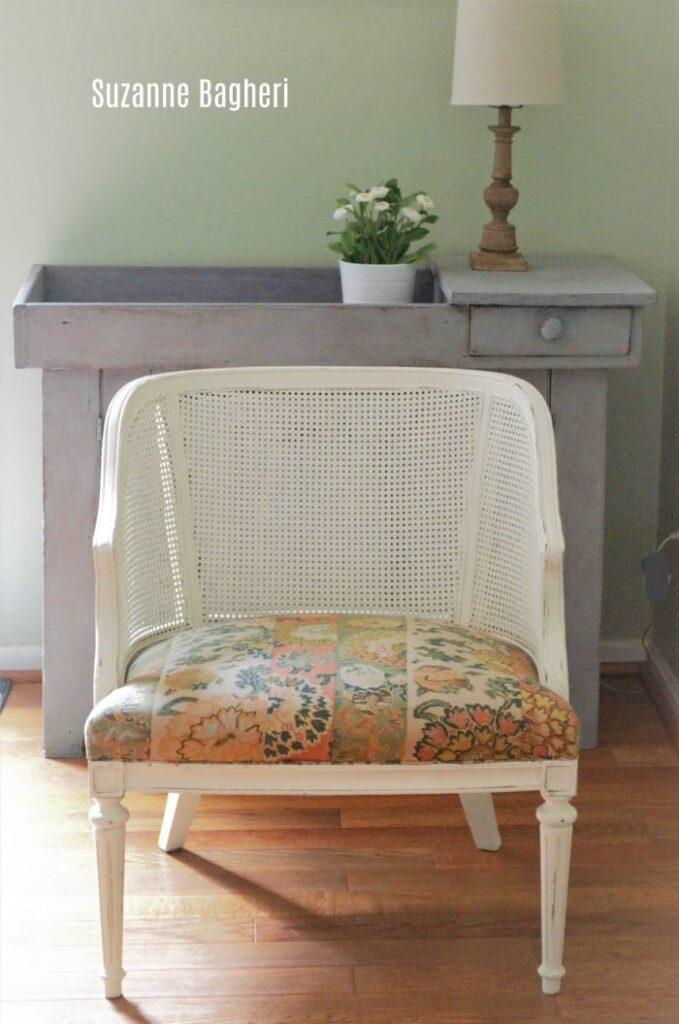 Caned Back Chair – Before and After