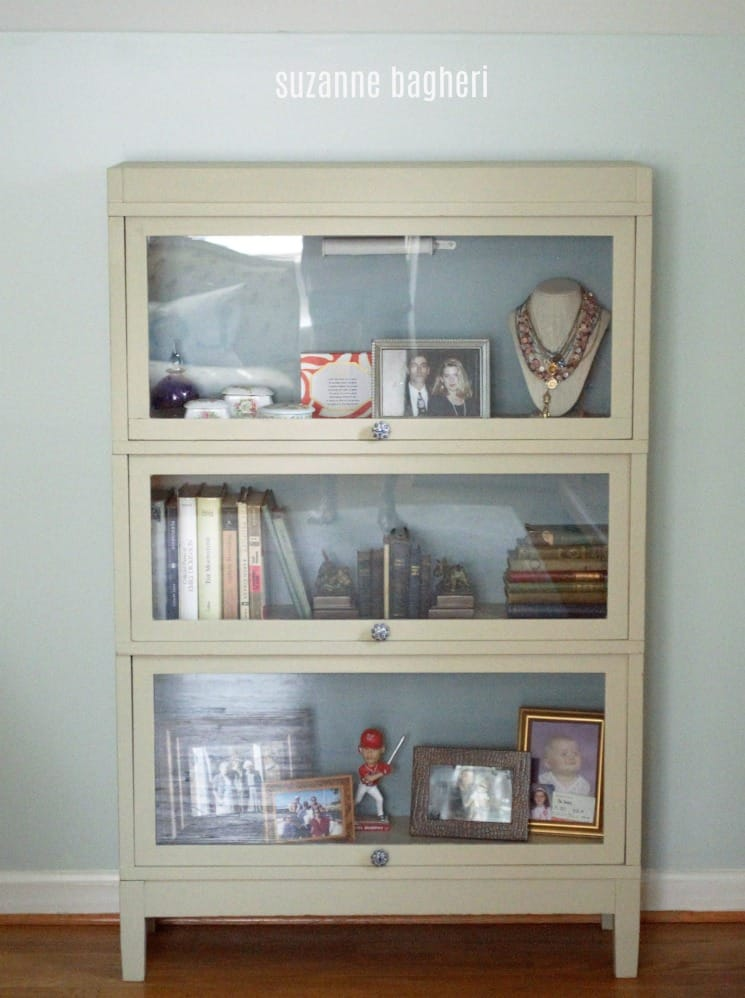 Lawyers Bookcase in General FInishes Millstone and Persian Blue