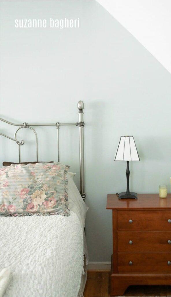 Master Bedroom in Sherwin Williams Sea Salt