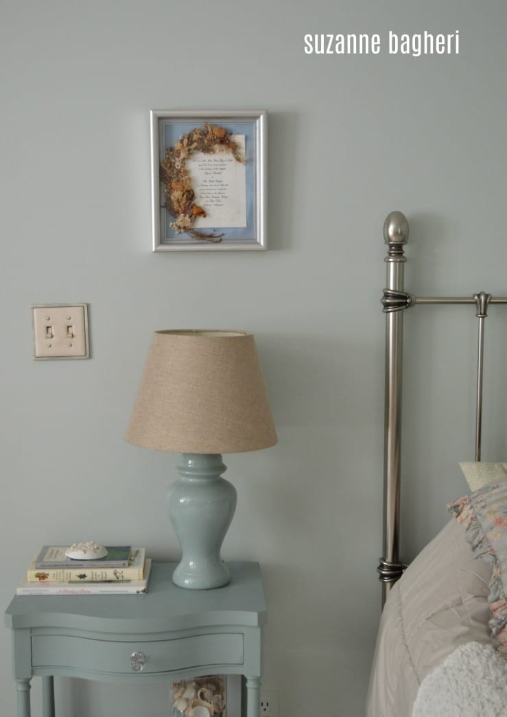 Bedroom Makeover in Sherwin Williams Sea Salt