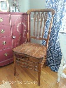 drab to fab farmhouse chair makeover