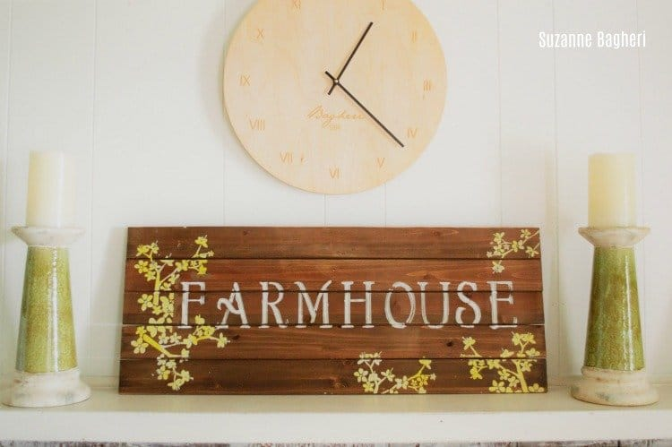 Farmhouse Sign for a Summer Mantel