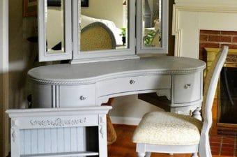 Annie Sloan Paris Grey Bedroom Set