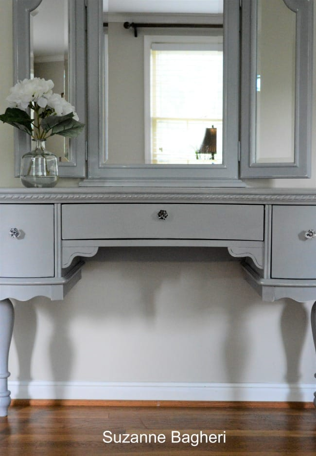 How To Create More Space On Your Dressing Table and a Few Vanity Makeovers