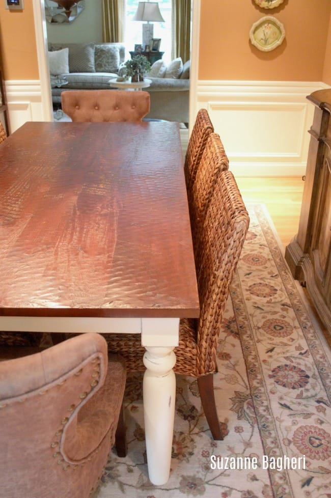 Farmhouse Dining Table in Annie Sloan Old White