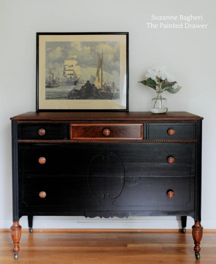 Classic Black Dresser Before and After