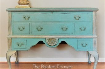 French Blanket Chest Gold Corbel Staging