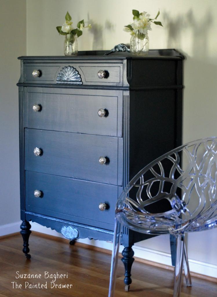 Vintage Glam Midnight Blue Chest