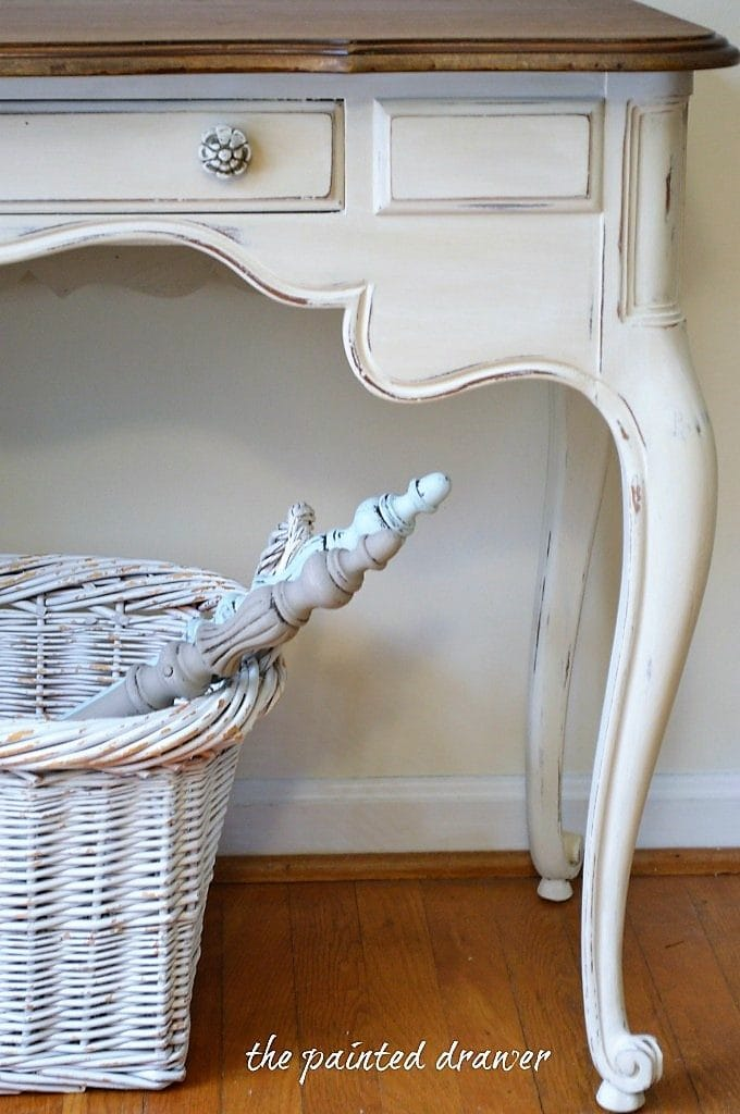 French Country White Desk