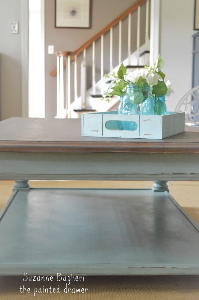 Beach Coffee Table in Duck Egg