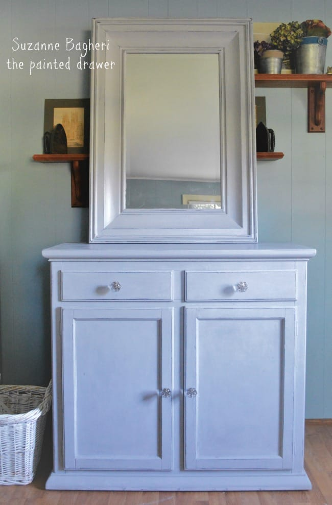 annie sloan paris grey mirror