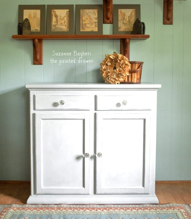 Farmhouse Glam Console Cabinet and Rusty