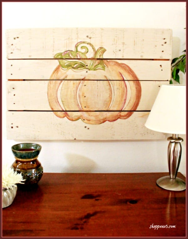 Shiplap Pumpkin Fall Inspiration Share Shoppe No.5