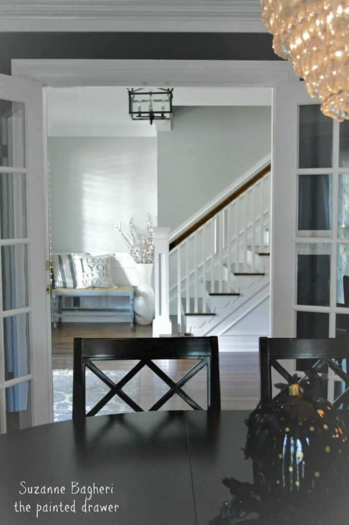 BM Stonington Gray Foyer makeover