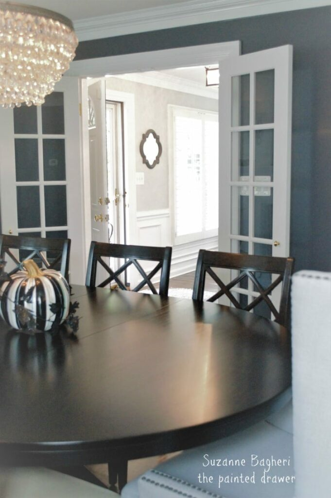 Foyer makeover in BM Stonington Gray