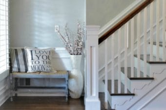 BM Stonington Gray Foyer Makeover
