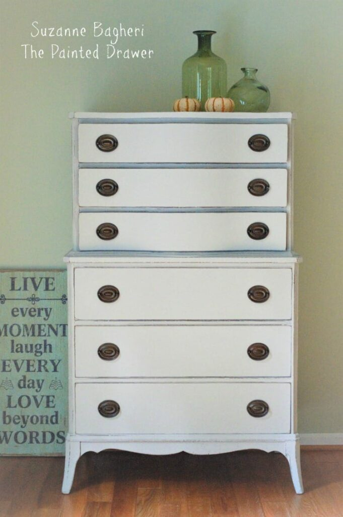 Limestone Chest of Drawers, Before and After