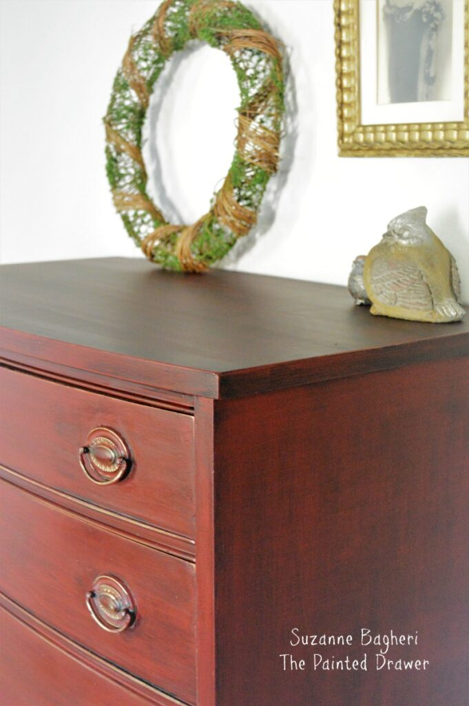 Red Dresser Makeover Before And After