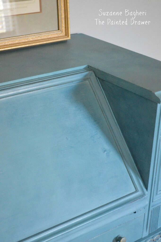 Vintage Desk in Combo of Annie Sloan Aubusson/Provence/Duck Egg paints