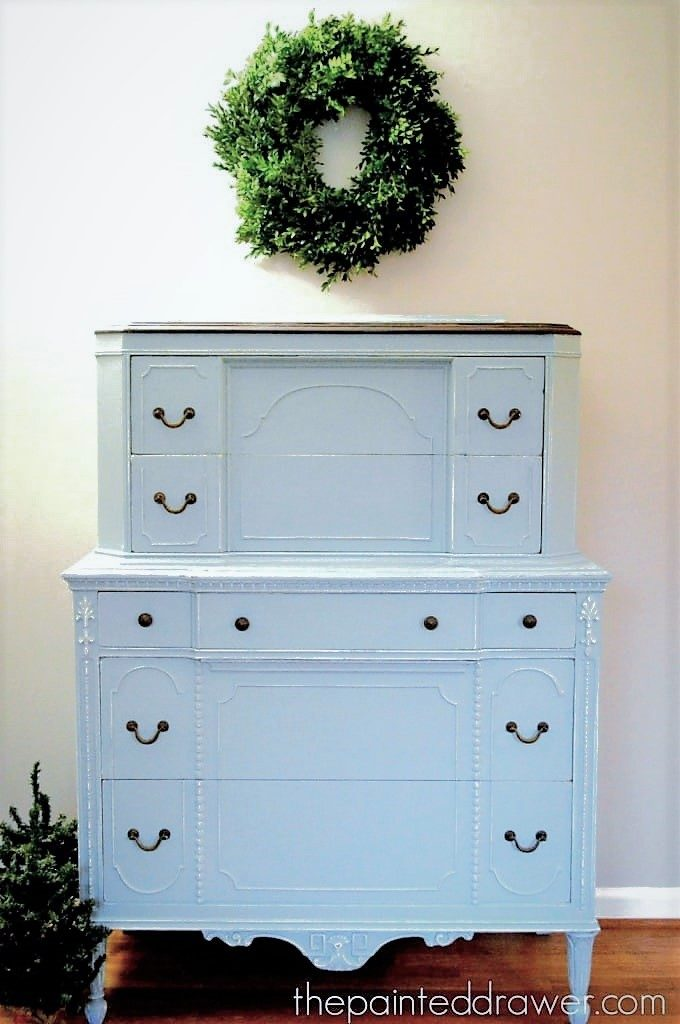Vintage chest in Persian Blue