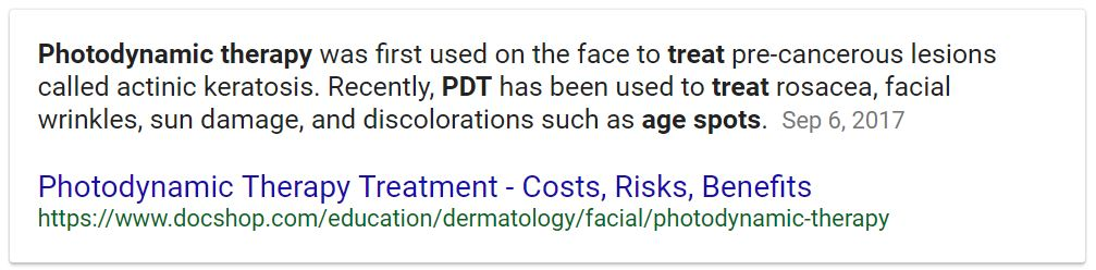 PDT Treatment and My Face, Before and After