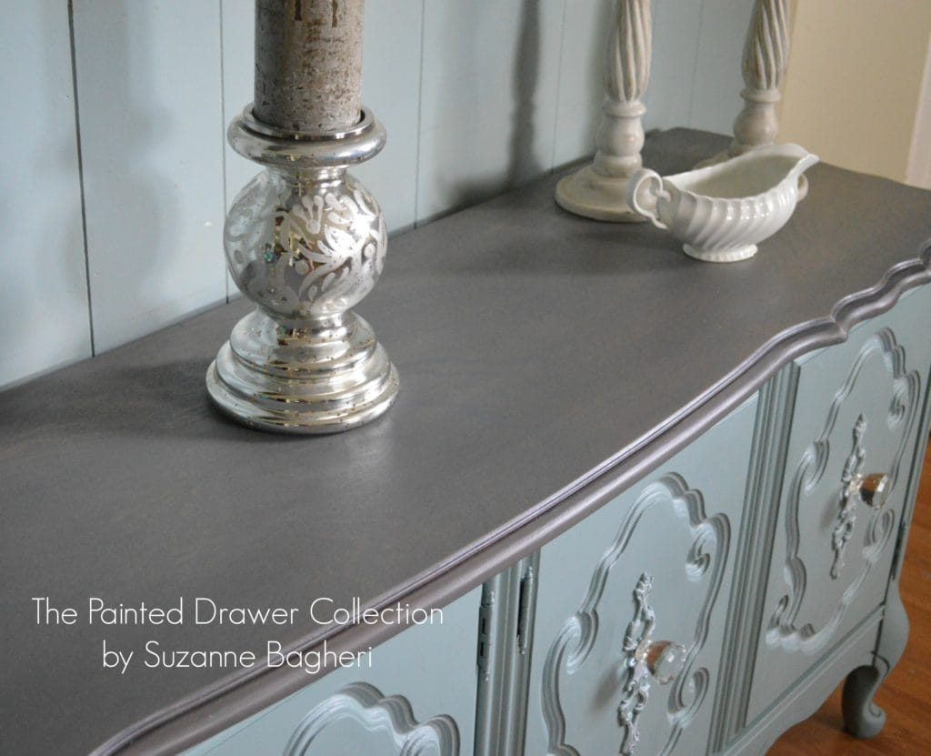 Bassett Wood Top Gray Wood Stain