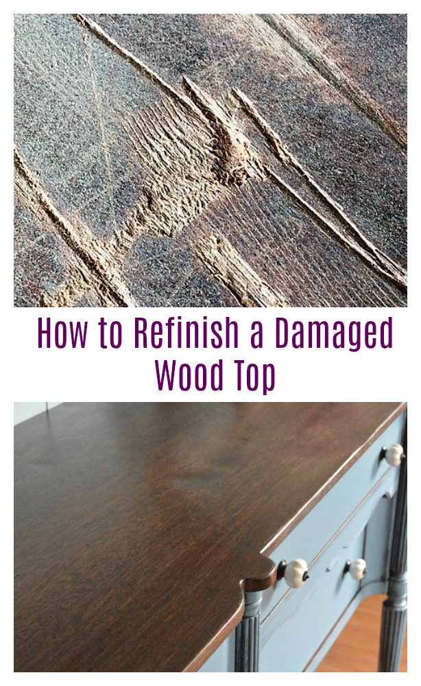 How-To Tuesday: Refinishing A Damaged Wood Top