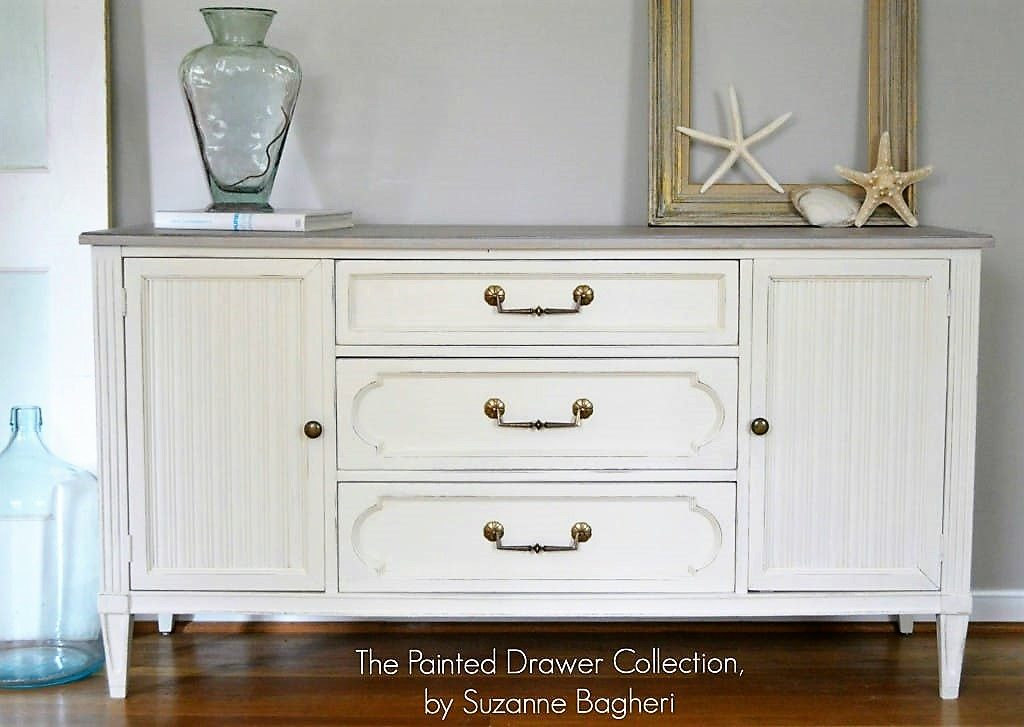 Beach Chic Dresser in Antique White