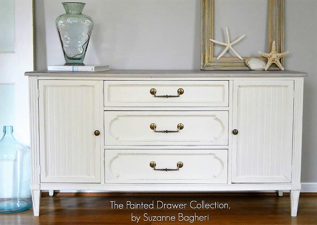 Beach Chic Dresser in Antique White