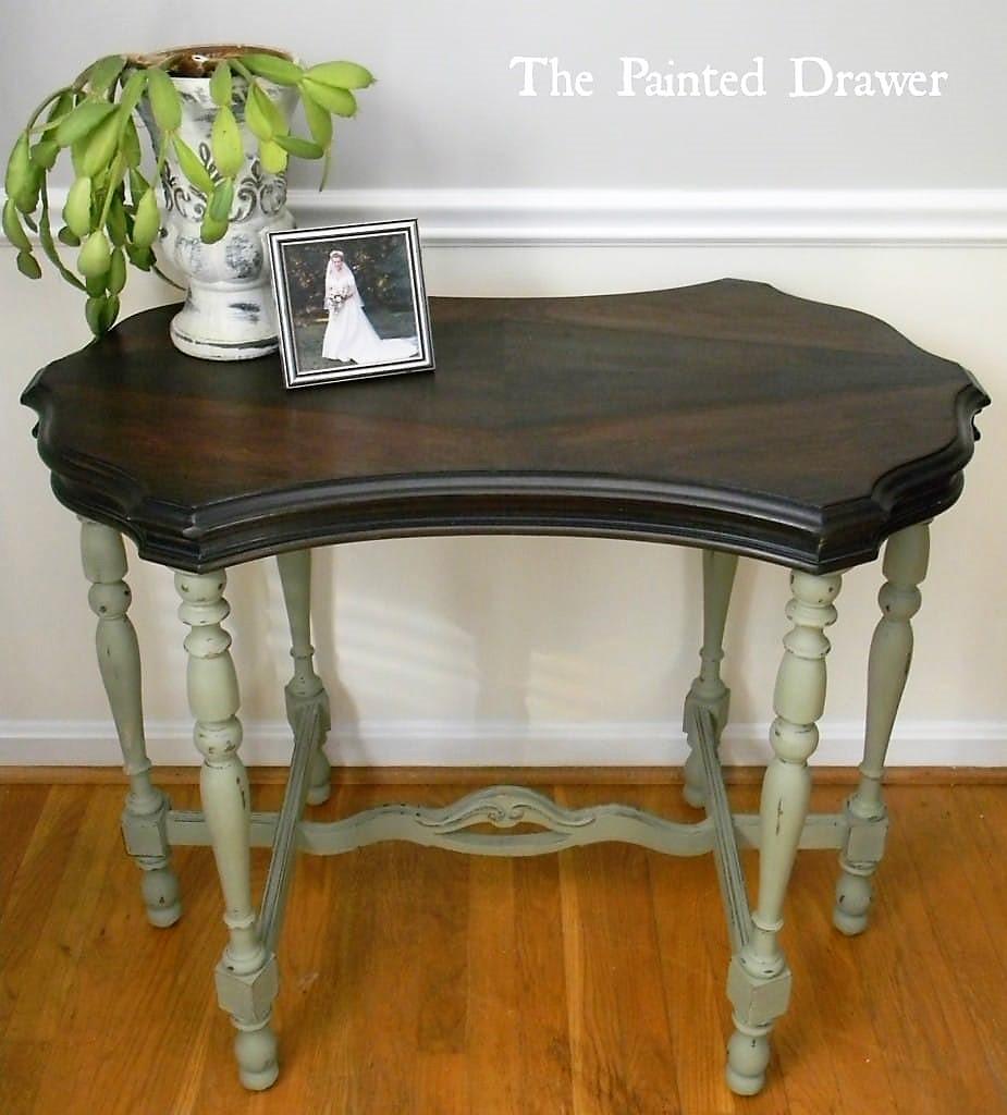 Diamond Table in Annie Sloan Chateau Grey