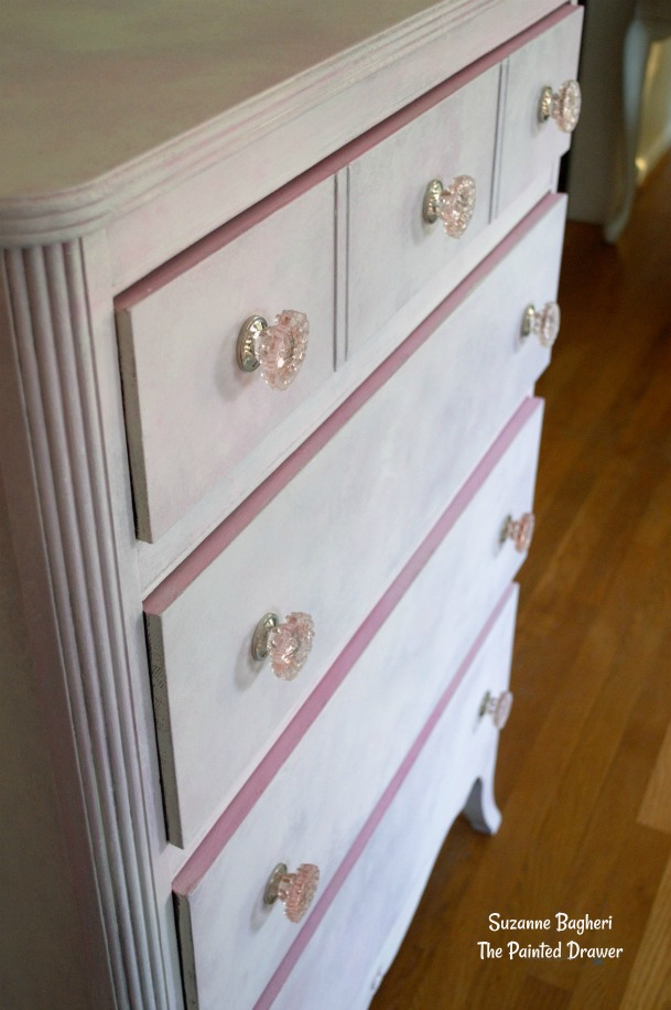 Pink Dresser Layers of Chalk Paint