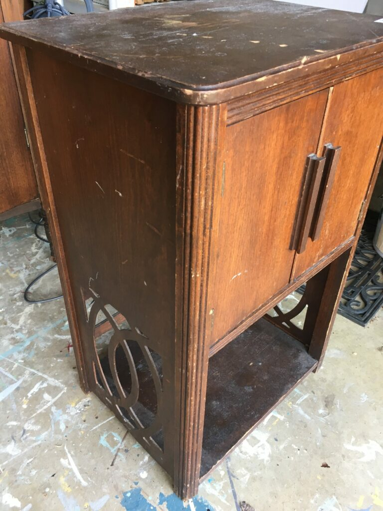 When I Saw This Little Cabinet, I Had To Have It. I Love The Fret Work On  The Bottom Sides And It Was In Excellent Condition (other Than Typical Wear  And ...