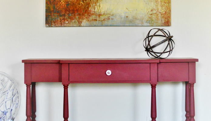 A Console Table Goes Farmhouse Red
