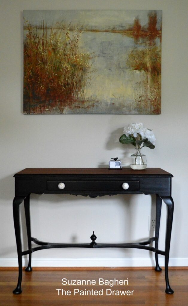 Midnight Black Vintage Table – Before and After