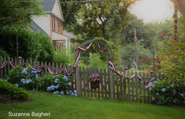 Fourth of July Garden and Flagstone