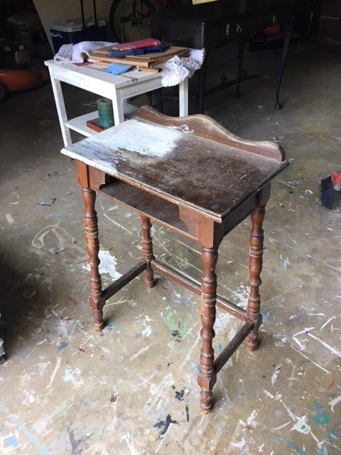 vintage phone table