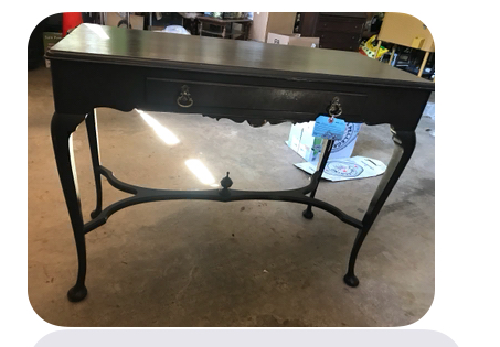 vintage thrift store table