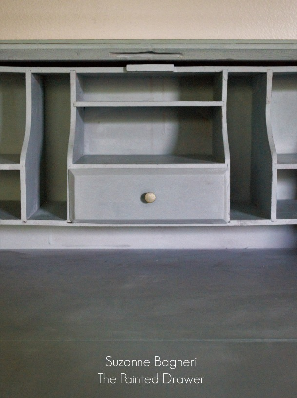 Vintage Desk in Annie Sloan Duck Egg